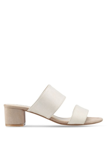 ZALORA 米褐色 Contrast Colour Sandal Mules D860CSH2963D0AGS_1
