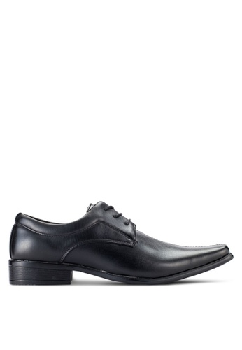 UniqTee black Lace Up Dress Shoes With Sewing Detail UN097SH91NQIMY_1