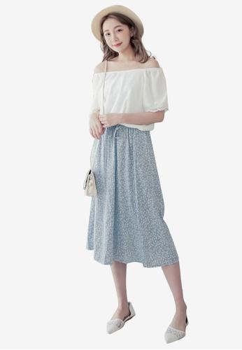 Eyescream blue Floral Off Shoulder Dress 9B79CAAC2588BBGS_1