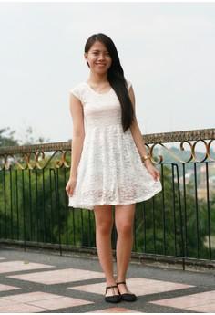 Monisha Lace White Dress
