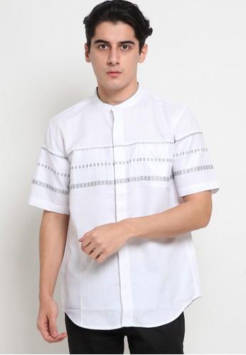Police Denim white Koko Short Sleeve Shirt 81BE4AAE349427GS_1