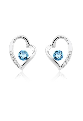 OUXI blue OUXI Love Earrings OU821AC97VHMMY_1