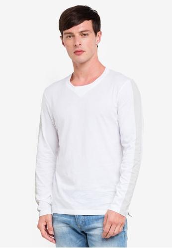ESPRIT 白色 長袖T恤 E5E41AA2A26B06GS_1
