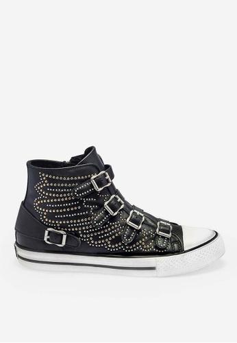 ASH black Verso - Black Rivets embroidery High-Top Sneakers D2BF4SH07D045BGS_1