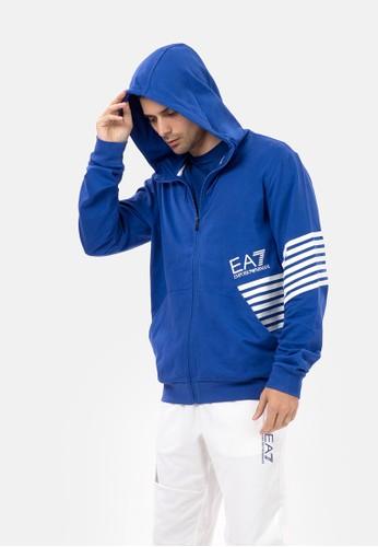 EA7 Emporio Armani blue TRAIN 7 LINES M HOODIE FZ 47880AA6300B96GS_1