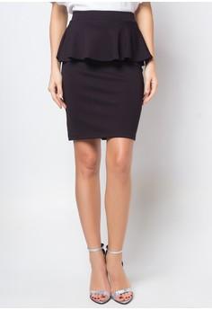 Darcell Peplum Midi Skirt