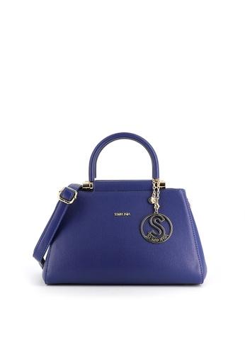 SEMBONIA blue SEMBONIA Synthetic Leather Satchel Bag (Blue) F1B18ACE210C2EGS_1
