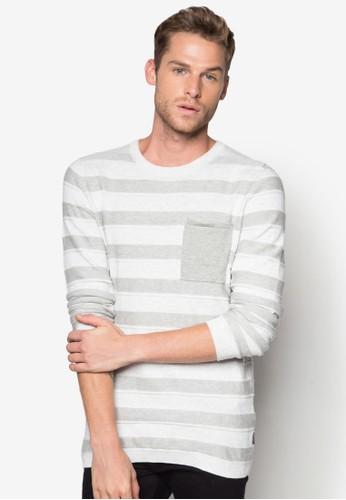 Jonesprit outletas 條紋針織長袖衫, 服飾, 外套