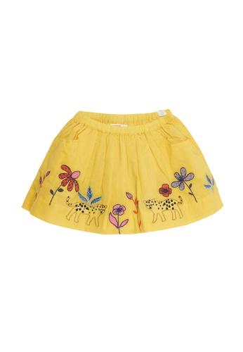 Du Pareil Au Même (DPAM) yellow Print Skirt 625D9KA9FA5766GS_1
