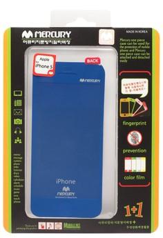 Mercury Case Anti-fingerprint Color Film iPhone 5 [Blue]
