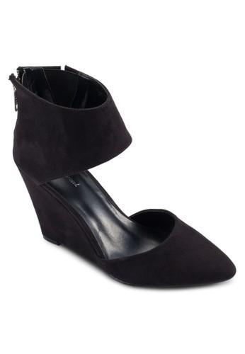 寬踝帶麂皮楔形鞋, esprit outlet hong kong女鞋, 鞋