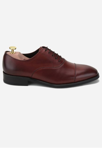 Earnest & Collective red Carnegie II Oxblood Minimalist Oxfords F3759SH0AB9BBDGS_1