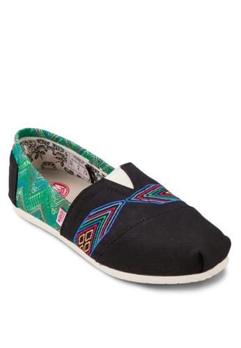 Chiapasesprit outlet 香港 民族風印花懶人鞋, 女鞋, 懶人鞋