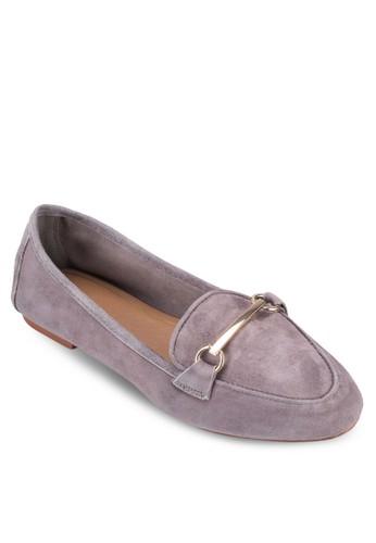 Libby 金屬條皮革esprit 澳門樂福鞋, 女鞋, 鞋