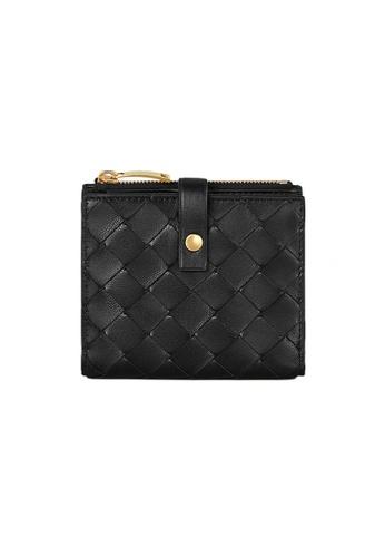 BOTTEGA VENETA black Bottega Veneta Mini Bi-Fold Wallet in Nero 12412ACB3CF392GS_1