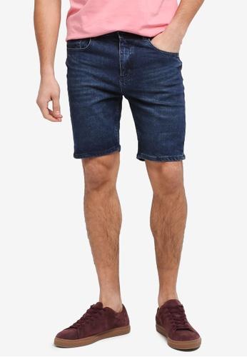 Cotton On blue Skinny Straight Shorts 03346AA594DE1BGS_1