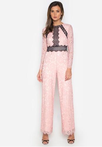 NOBASIC pink Grace Long Sleeve Jumpsuit BB4FCAA124D71DGS_1