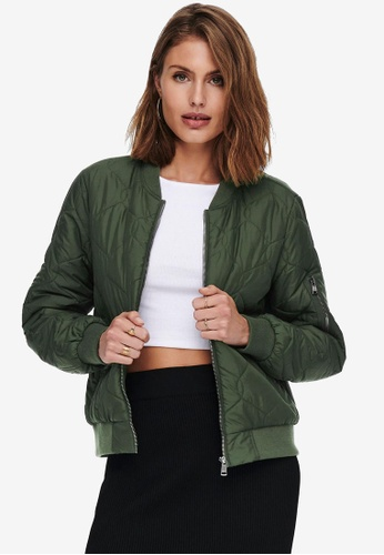 ONLY green Tanzia Quilted Bomber Jacket 934CFAA84235B5GS_1
