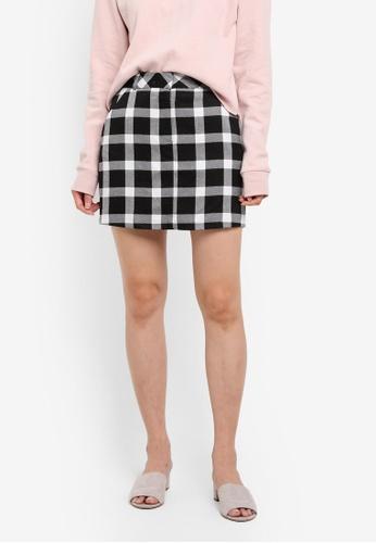 Miss Selfridge multi Large Check Pelmet Skirt D3008AA7591040GS_1