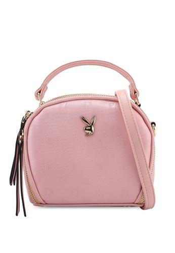 PLAYBOY BUNNY pink Ladies Sling Bag A3D62AC35E8A36GS_1