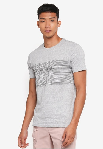 Only & Sons grey Sanford Tee AD453AA642AD1CGS_1