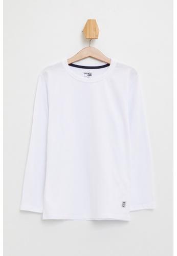 DeFacto white Long Sleeve Round Neck Basic T-Shirt 001DEKA9563DD5GS_1