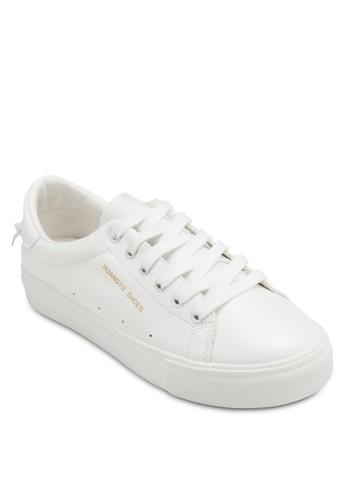 No 8 軟皮繫帶休閒鞋,esprit官網 女鞋, 鞋