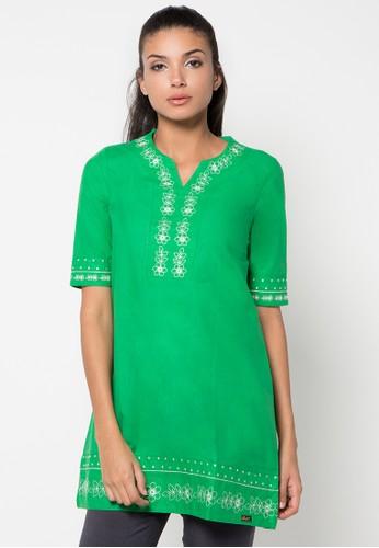 GAFF green Alya Blouse GA640AA26CIVID_1