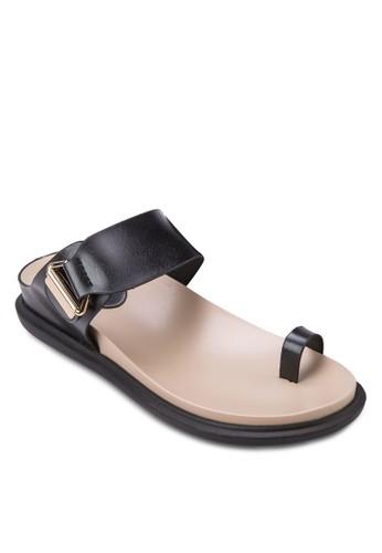 拇指套一字帶涼zalora 包包評價鞋, 女鞋, 涼鞋