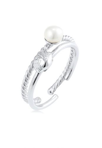 Elli Germany silver Perhiasan Wanita Perak Asli - Silver Cincin Set Mutiara Air Tawar 7CF6CACFB2C802GS_1