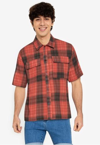 ZALORA BASICS multi Oversize Plaid Shirt C6286AAB267819GS_1