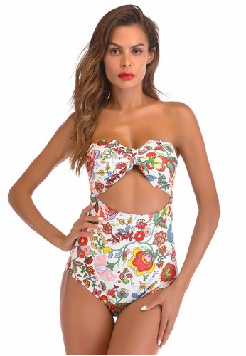 LYCKA white LWD7276b-European Style Lady Swimsuit-White A59F2US976A528GS_1