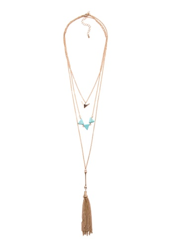 Kimberley gold Tasseled Layered Necklace KI026AC74IERPH_1