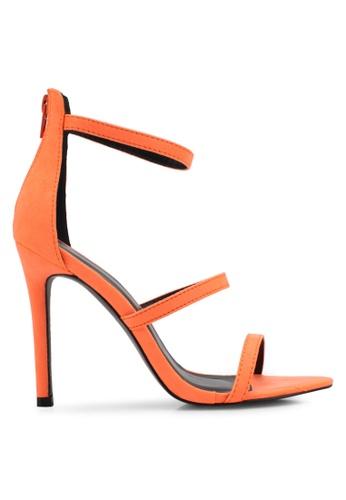 Something Borrowed orange Tri Strap Open Toe Heel 313E2SHC9F2E42GS_1