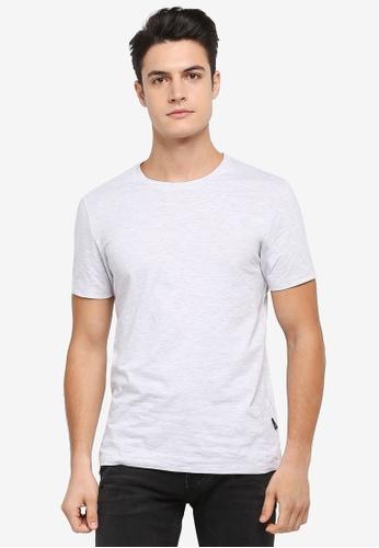 Burton Menswear London beige Frost Crew Neck T-Shirt 3FA33AAC850726GS_1