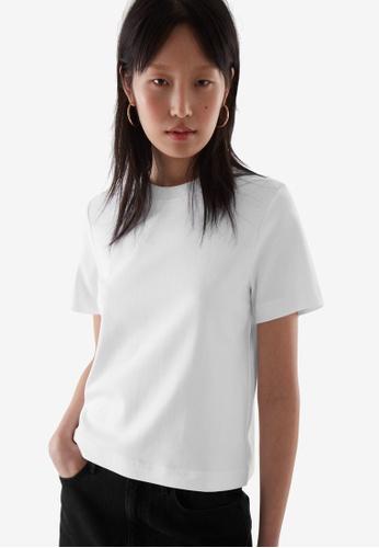 COS white Slim-Fit T-Shirt 17547AA74DA769GS_1