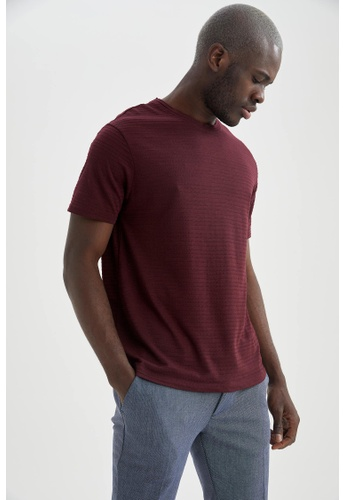 DeFacto red Short Sleeve Round Neck T-Shirt 0CCCBAA5726AE4GS_1