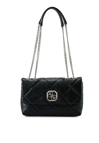 Guess black Dilla Convertible Crossbody Flap Bag D8226ACF174D27GS_1
