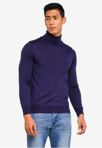 OVS blue Merino Wool Blend Pullover 23AEFAAE1F2C33GS_1