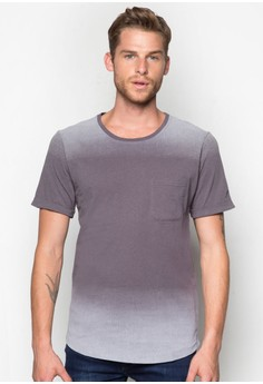 Gradient Tee With Patch Pocket