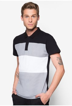 Two Buttons Stripe Polo