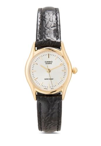 Casio black Casio Standard Analog Women's Black Leather Strap Watch LTP-1094Q-7ARDF CA843AC84MKDMY_1