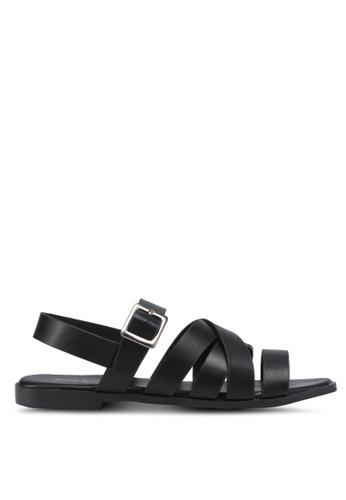 Something Borrowed black Strappy Sandals 2F0D8SHD0FF410GS_1