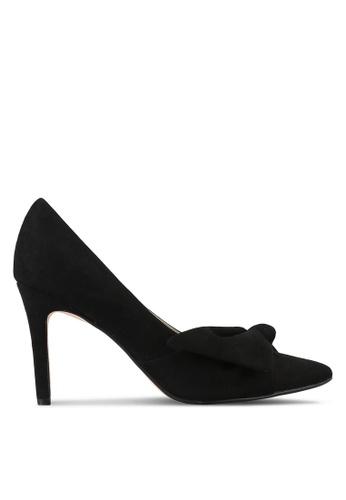 Velvet black Suede Bow Pump Heels 7E61BSH86895E3GS_1