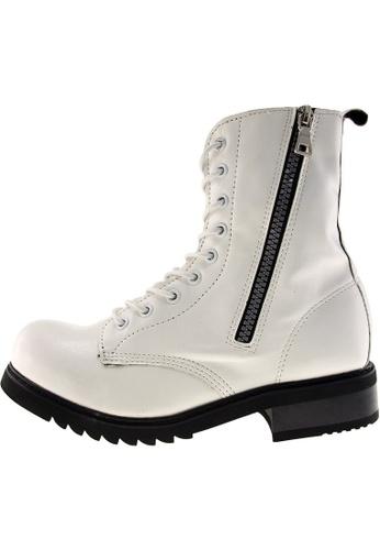 Maxstar Maxstar Women's 303 Zipper Mid Calf PU Combat Boots US Women Size MA168SH39DYUHK_1