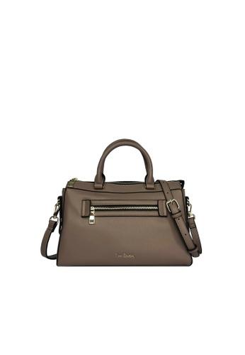 Pierre Cardin brown Pierre Cardin Premium Medium Boston Bag 3D199ACE69B741GS_1