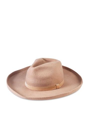 Rubi brown Andie Flipped Brim Rancher Hat 82F1EAC5078F03GS_1