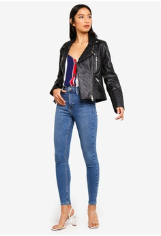 3de65db36045 15% OFF River Island Faux Leather Quilted Biker Jacket S  107.90 NOW S   91.90 Sizes 6 8 10 12 14