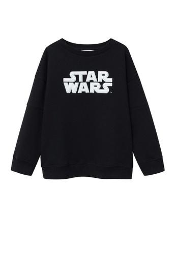 MANGO KIDS black Star Wars Embossed Sweatshirt 7F335KAEB3952DGS_1