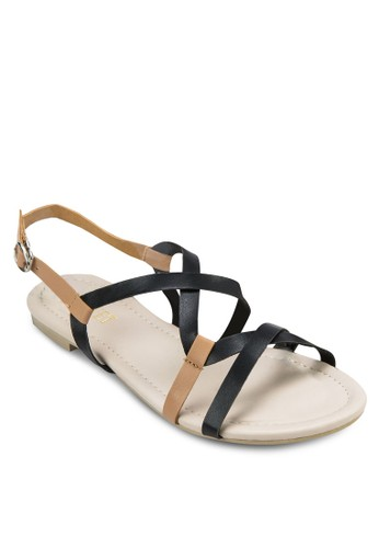 Azalora 泳衣bbie Curve Straps Sandals, 女鞋, 涼鞋